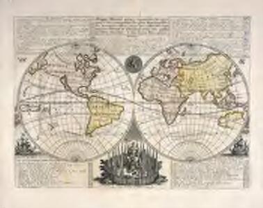 Mappe-Monde pour connoitre les progrés [et] les conquestes les plus remarquables des Provinces-Unies