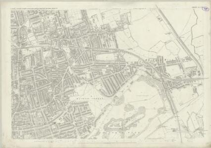 London (First Editions c1850s) XIX (includes: Bethnal Green; Hackney; Poplar Borough) - 25 Inch Map