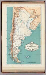 Mapa orohidrografico de la Republica Argentina.