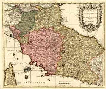 Continentis Italiae Pars Media, Seu Prima Meridionalis; Ecclesiae Status Tredecim, et Magni Ducatus Toscani Dominium ac Territoria exhibens