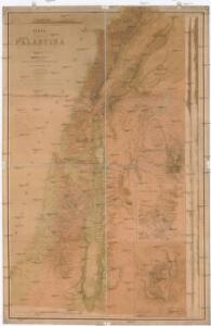 Karte von Palästina
