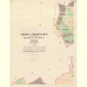 Gross Poreschin - c6026-1-004 - Kaiserpflichtexemplar der Landkarten des stabilen Katasters