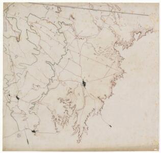 Manuscrit: [El Segre i la xarxa de canals entre la confluència amb el Noguera Ribagorçana i Sudanell: plànol topogràfic de la zona compresa entre l'Alpicat, Lleida i el terme d'Artesa de Lleida]