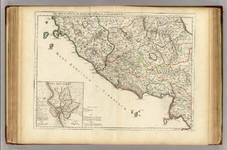 Regionum Italiae mediarum tabula geographica.