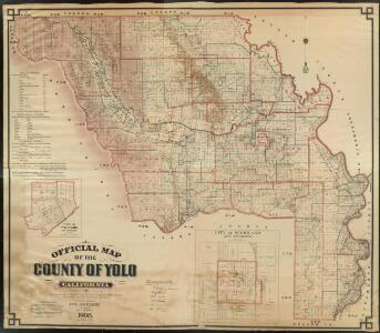 Official Map of Yolo County, California, 1909.