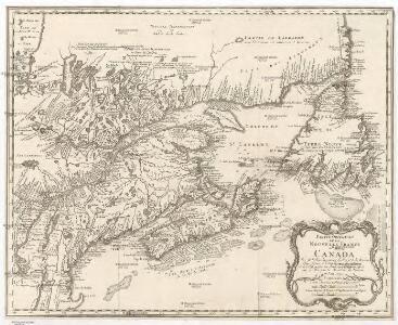 Parte orientale de la Nouvelle France ou du Canada