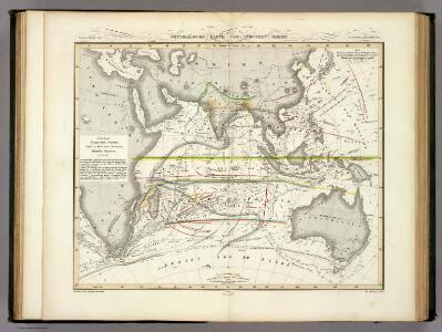 Physikalische Karte vom Indischen Meere.