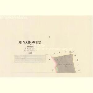 Minařowitz - c4760-1-001 - Kaiserpflichtexemplar der Landkarten des stabilen Katasters