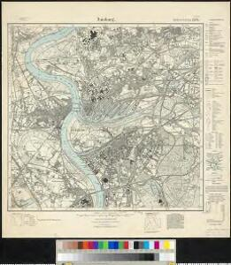 Messtischblatt 2574 : Duisburg, 1927 Duisburg