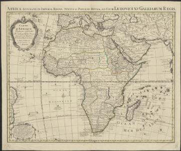Carte d'Afrique, dressée pour l'usage du Roy