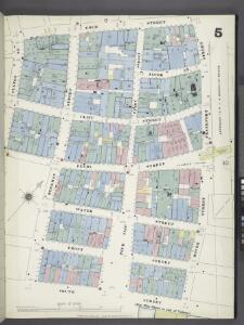 Manhattan, V. 1, Plate No. 5 [Map bounded by Gold St., Dover St., Frankfort St., South St., Fulton St.]