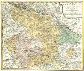 Ducatus Luneburgici in suas Praefecturas et Vogteyas ad Statum recentissimum divisi Tabula Geographica