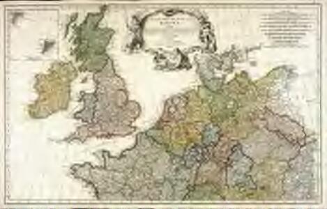 Erster Theil der Karte von Europa, welcher Frankreich, Deutschland, Italien Spanien, England, Scotland und Ireland enthælt, 1