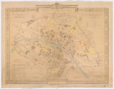 Plan de la ville de Paris en 1789