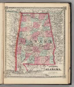 Schonberg's Map of Alabama.