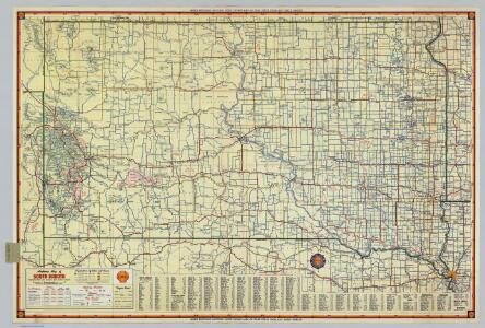 Shell Highway Map of South Dakota.