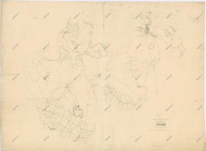 Porostní mapa revíru Záluží