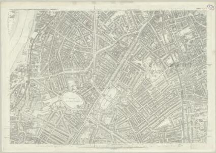 London (First Editions c1850s) LV (includes: Lambeth St Mary; Southwark) - 25 Inch Map