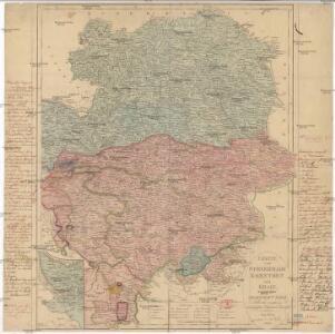 Charte von Steyermark Kaernthen und Krain nebst der Grafschaft Görz