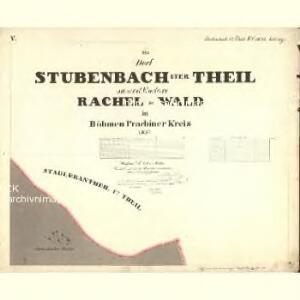 Stubenbach I. Theil - c6088-1-005 - Kaiserpflichtexemplar der Landkarten des stabilen Katasters