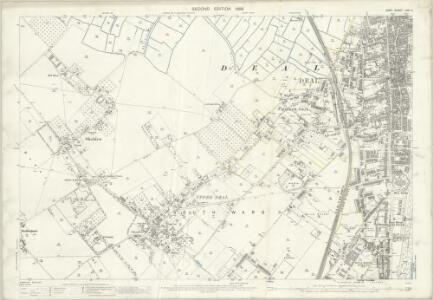 Kent LVIII.4 (includes: Deal; Sholden) - 25 Inch Map