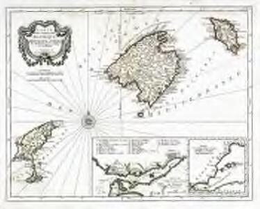 Carte des isles de Majorque, Minorque et Yvice