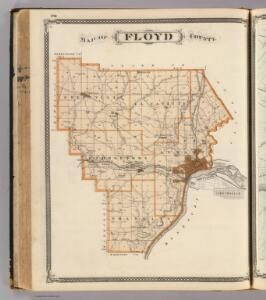 Map of Floyd County.