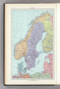 57.  Scandanavia, Political.  The World Atlas.