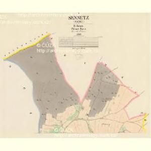 Sennetz (Senec) - c6840-1-001 - Kaiserpflichtexemplar der Landkarten des stabilen Katasters