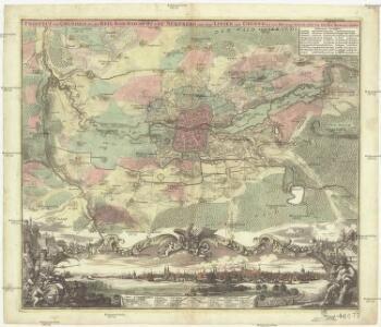 Prospect und Grundris der des Heil. Röm. Reichs-Stadt Nürnberg samt ihren Linien und Gegend auf eine Meil-wegs herumb