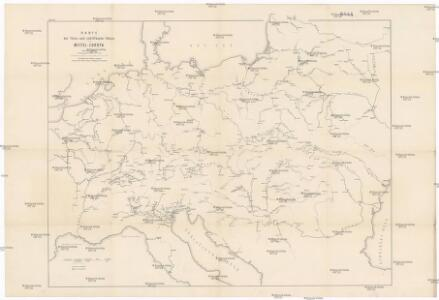 Karte der floss- und schiffbaren Flüsse von Mittel-Europa