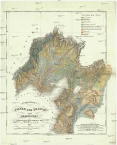 Geognostische Karte des Taurus und seinen Nebenzweige in den Paschaliken Adana und Marasch, nebst dem angrenzenden Theile des Paschalikes von Aleppo