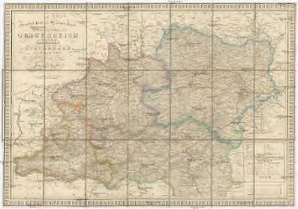 General- Post und Strassen Karte des Erzherzogthums Oesterreich, des Herzogthums Salzburg und eines grossen Theiles von Steyermark
