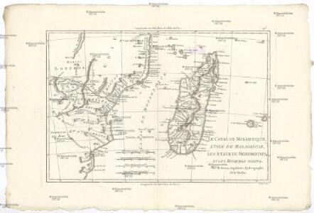 Le canal de Mosambique, l'isle de Madagascar, les etats du Monomotapa et les royaumes voisins