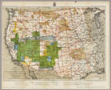 1882. Progress Map Of The U.S. Geographical Surveys West Of The 100th Meridian.