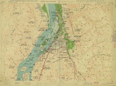 Aswan and environs (Egypt)  (1943)