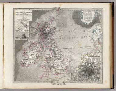 Die Britischen Inseln Und Das Umliegende Meer.