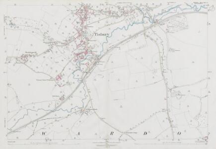 Wiltshire LXIV.15 (includes: Tisbury; West Tisbury) - 25 Inch Map