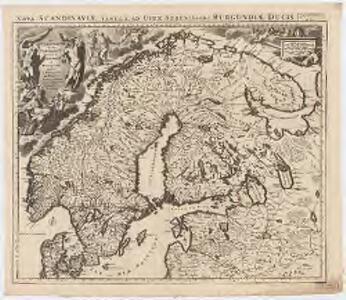 La Scandinavie où sont les royaumes de Suede, Danemark et Norwege