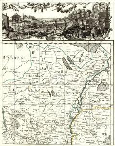 Carte de la Principauté de Liege et de la Comté de Namur
