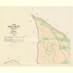 Kolinetz (Kolinec) - c3284-1-001 - Kaiserpflichtexemplar der Landkarten des stabilen Katasters