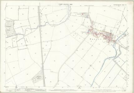 Huntingdonshire V.8 (includes: Farcet; Fletton; Stanground South; Woodston; Yaxley) - 25 Inch Map