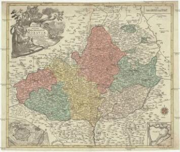 Mappa geographica specialis Marchionatus Moraviae in sex circulos divisae