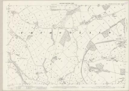 Yorkshire CCLXXXII.1 (includes: Hunshelf; Oxspring; Stainbrough; Thurgoland) - 25 Inch Map