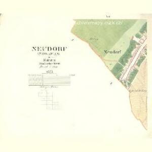 Neudorf (Nowawes) - m2195-1-006 - Kaiserpflichtexemplar der Landkarten des stabilen Katasters
