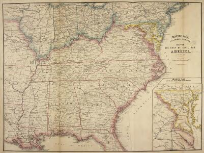 Map of the Seat of Civil War in America, October, 1862