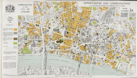 Report of the Improvements and Town Planning Committee to the Right Honourable the Lord Mayor, Aldermen and Commons of the City of London, in Common Council assembled on the preliminary draft proposals for post-war reconstruction in the City of London.