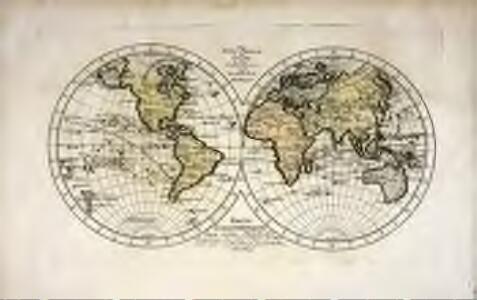 Die fünf Theile der Erde in ihrer östlichen und westlichen Halbkugel