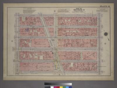 Plate 21, Part of Section 3: [Bounded by W. 37th Street, Fifth Avenue, W. 32nd Street and Seventh Avenue.]