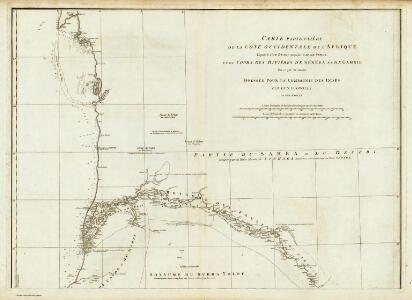 Carte particuliere de la Cote occidentale de l'Afrique, depuis le Cap Blanc jusqu'au Cap de Verga. (Northern section)